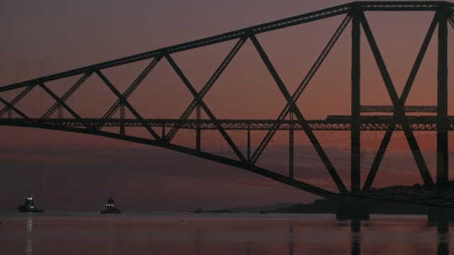 the forth bridges in scotland - construction frame stock videos & royalty-free footage
