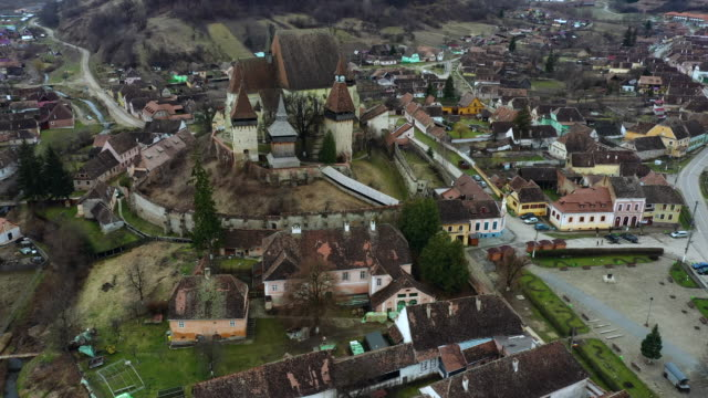 the fortified church of biertan - transylvania stock videos & royalty-free footage