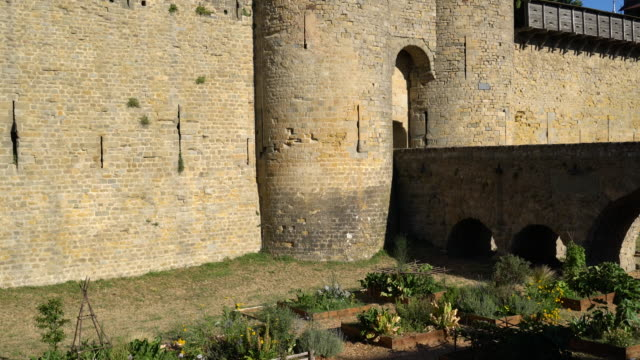 the fortified city of carcassonne - carcassonne stock videos & royalty-free footage