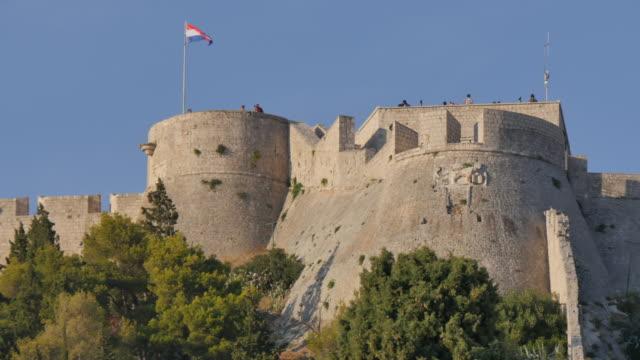 The Fortress above the town, Hvar, Hvar Island, Dalmatia, Croatia, Europe