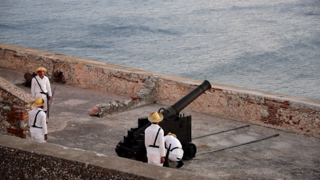 the fortress was declared a world heritage site by unesco in 1997 cited as the best preserved and most complete example of spanishamerican military... - santiago de cuba stock videos and b-roll footage