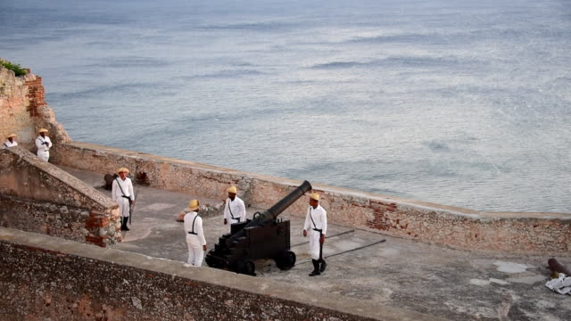 the fortress was declared a world heritage site by unesco in 1997, cited as the best preserved and most complete example of spanish-american military... - roca video stock e b–roll