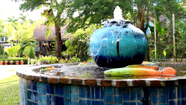 the fountain in the garden - standing water in yard stock videos & royalty-free footage