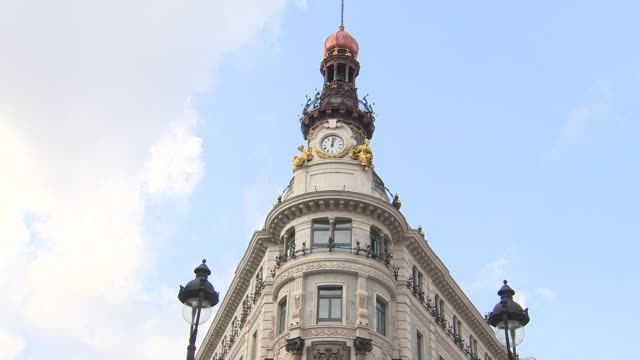 the four seasons hotel in madrid opens next september 25th in the new canalejas shopping center, in which 600 million euros have been invested. in... - four seasons hotel stock videos & royalty-free footage