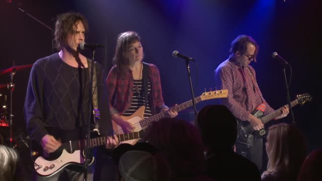 vídeos de stock e filmes b-roll de the fourpiece band broncho brought their roughneck poppunk sound to the jbtv stage with their song 'what' - música punk