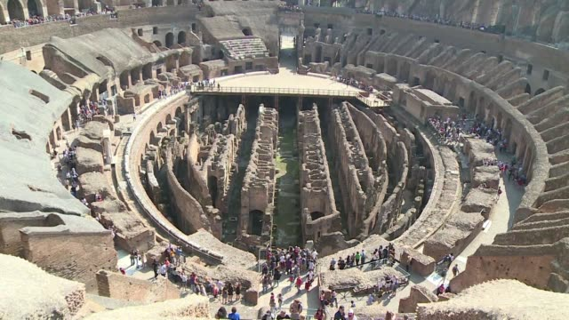 stockvideo's en b-roll-footage met the fourth and fifth levels of rome's colosseum will reopen to public after more than 40 years on 1 november - colosseum