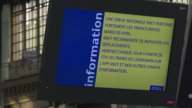 The fourth instalment of French rail strikes that began earlier this month disrupts services at Paris's usually busy Gare de Lyon with just one in...