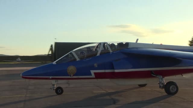 the french air force put on a show in honor of the flying aces of world war i pilots credited with shooting down at least five enemy aircraft - haute saone stock videos and b-roll footage