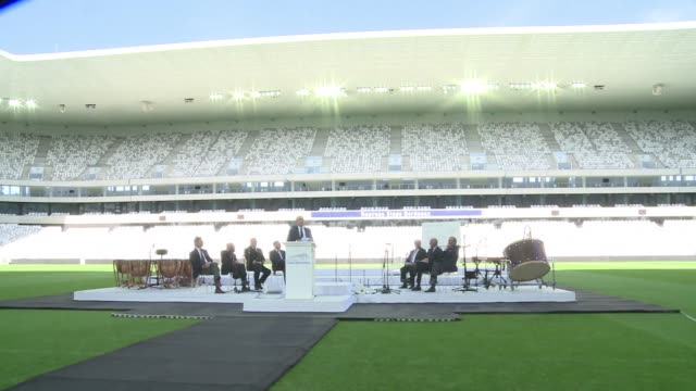 the french city of bordeaux unveils its new stadium set to host rugby and football matches and built with the euro 2016 in mind - euro 2016 stock videos and b-roll footage