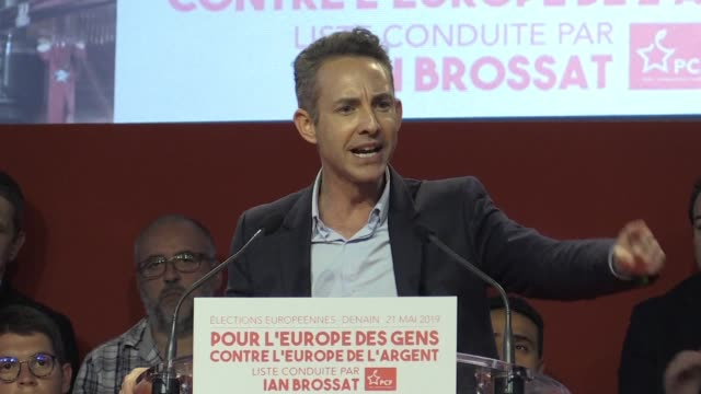 FRA: French Communist Party holds rally ahead of Euro elections