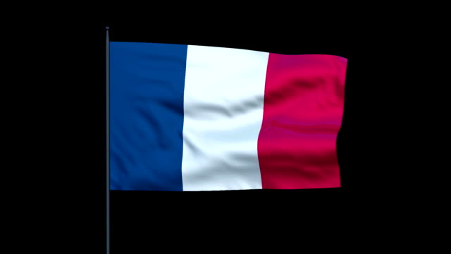 the french flag waves against a black background. - french flag stock videos and b-roll footage