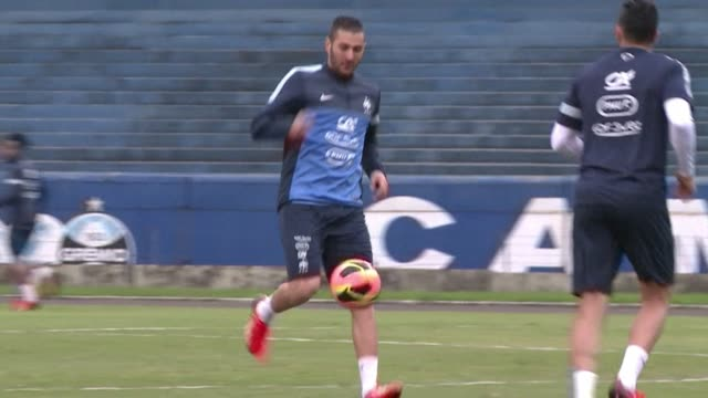 the french football team prepares to face brazil in a friendly match on sunday clean france prepares to face brazil in weekend on june 07 2013 in... - alegre stock videos & royalty-free footage
