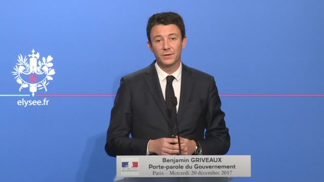 the french government's spokesperson said on wednesday that he could understand why the cost of the €350000 private tokyo paris flight that prime... - benjamin griveaux stock videos & royalty-free footage