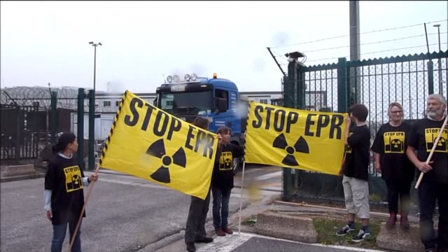 the french nuclear safety authority says that the cover of the epr reactor tank at the flamanville nuclear power plant should be replaced by the end... - la manche stock videos and b-roll footage