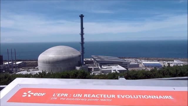 the french nuclear safety authority says that the cover of the reactor tank at the flamanville nuclear power plant should be replaced by the end of... - la manche stock videos and b-roll footage