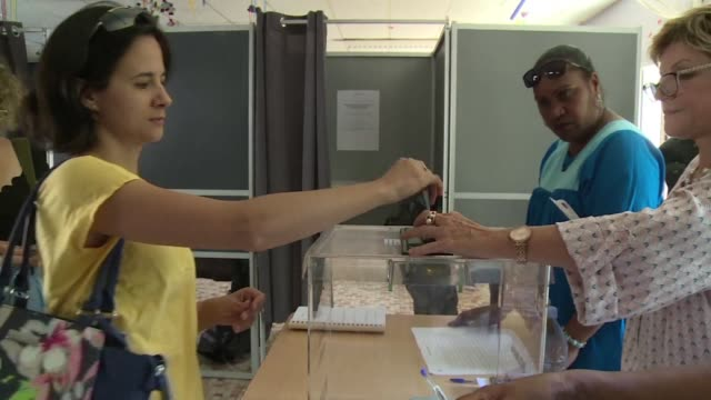 the french pacific islands of new caledonia begins voting on whether to become an independent nation in a closely watched test of support for france... - french overseas territory stock videos & royalty-free footage
