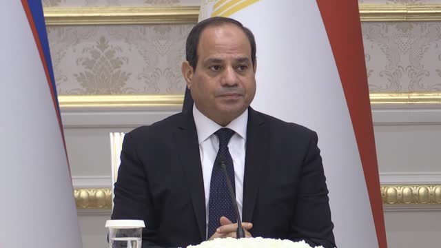 the french public are deeply divided on president macron's awarding the legion of honor to egyptian president abdel fattah al-sisi during his visit... - egypt stock videos & royalty-free footage