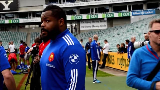 the french rugby team train ahead of the third and final test against australia as the wallabies chase their best winning run in 14 years - australian national team stock videos & royalty-free footage