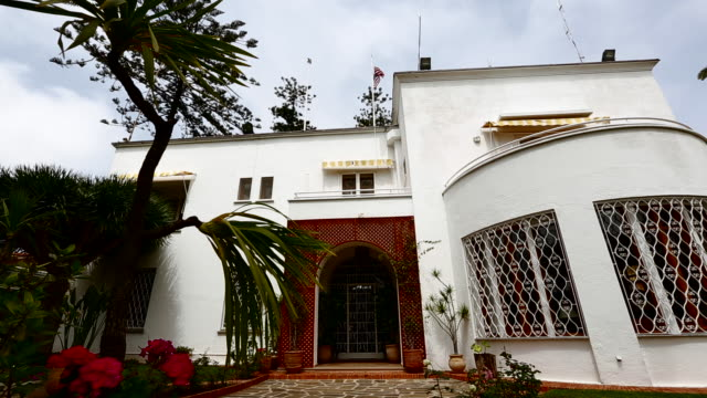 the front of the u.s. embassy in morocco 2 - us embassy stock videos & royalty-free footage