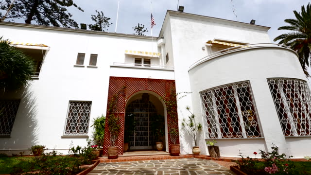 the front of the u.s. embassy in morocco - us embassy stock videos & royalty-free footage