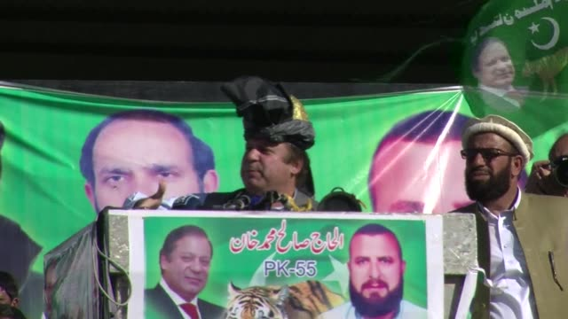 the frontrunner in pakistan election race, opposition leader nawaz sharif, attracted tens of thousands monday to a rally at which he promised... - revival stock videos & royalty-free footage