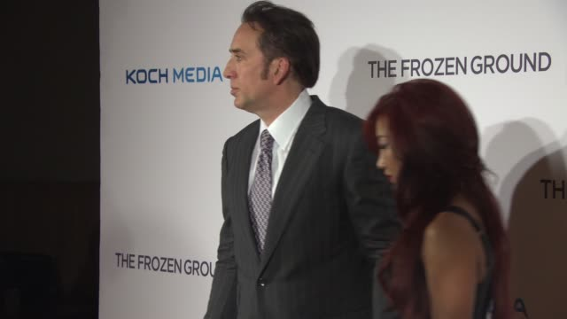 the frozen ground' european premiere at vue leicester square on july 17, 2013 in london, england - nicolas cage stock videos & royalty-free footage