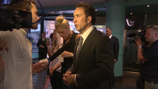 'the frozen ground' european premiere at vue leicester square on july 17 2013 in london england - nicolas cage stock videos & royalty-free footage