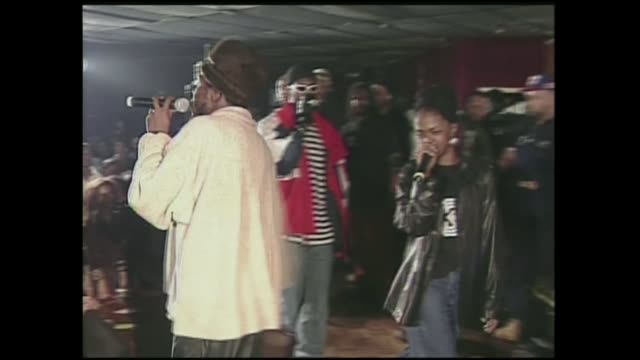 The Fugees and Busta Rhymes perform in Brooklyn NY at The Ark nightclub in 1995