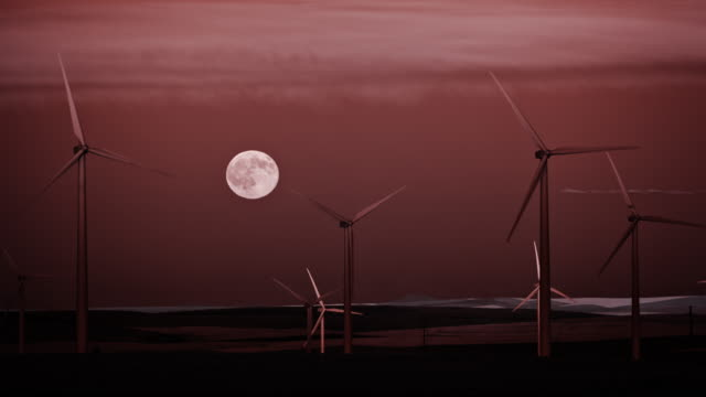 the full moon rises over central oregon - klondike stock videos and b-roll footage