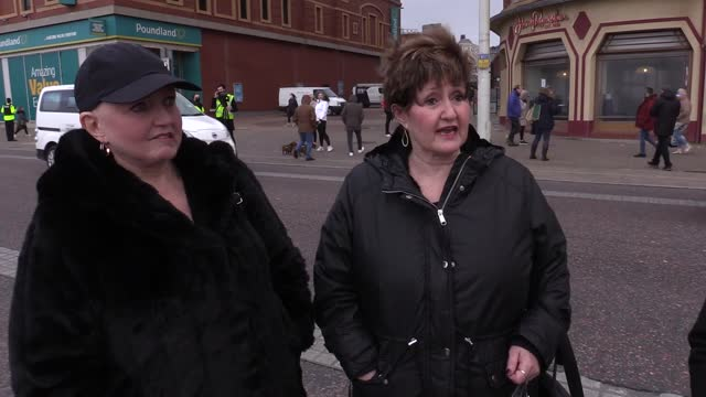 the funeral cortege of comedian bobby ball passes blackpool tower, plus quotes from friends and co-stars linda, denise and maureen nolan. - comedian stock videos & royalty-free footage