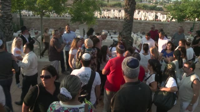 the funeral for a french israeli soldier killed in gaza was held in ashkelon on tuesday - ashkelon stock videos and b-roll footage