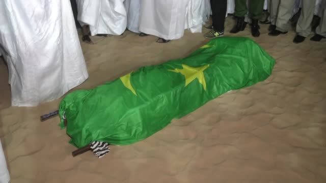 the funeral for ely ould mohamed vall the former head of a military junta who ruled mauritania from 2005 until 2007 took place in nouakchott on... - nouakchott stock videos & royalty-free footage