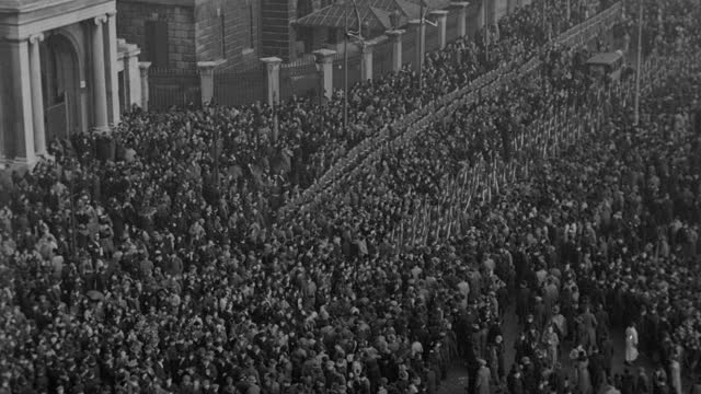 the funeral of king george v parts a massive crowd in london's hyde park. - royalty stock videos & royalty-free footage