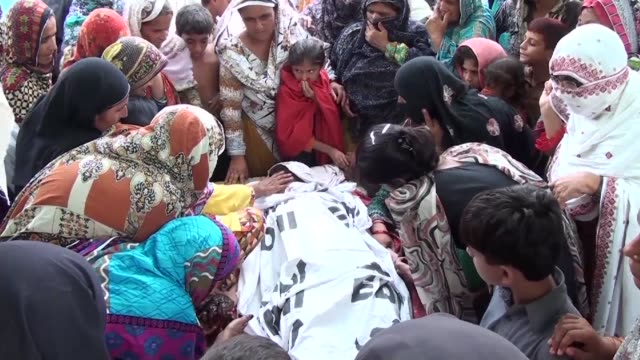 the funeral of murdered pakistani celebrity qandeel baloch is held after her brother says he is not embarrassed to have killed her - multan stock videos and b-roll footage