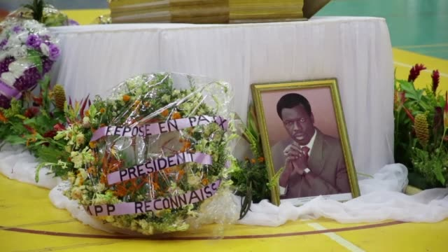 the funeral of the president of burkina faso's national assembly salidou diallo who died on 19 august aged 60 was attended by thousands in... - mahamadou issoufou stock videos and b-roll footage
