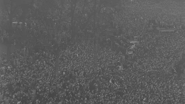 the funeral procession of king george v passes through a massive crowd in london's hyde park. - british royalty stock videos & royalty-free footage