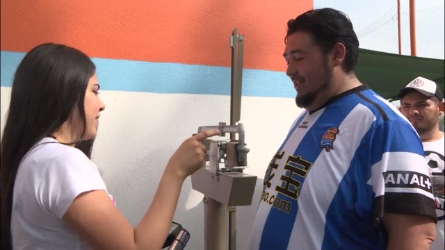 the futbol de peso program organized in the northern mexican city of monterrey teams gain more points for losing weight than for winning football... - northern mexico stock videos & royalty-free footage