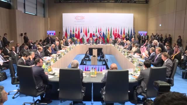 The G20 Foreign Ministers' meeting is held at the World Conference Center in Bonn Germany on February 16 2017