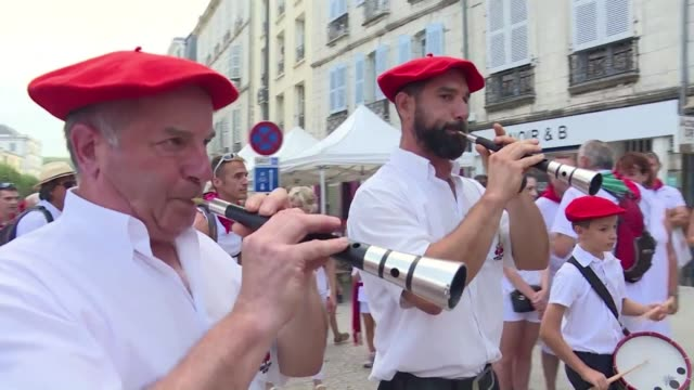 the gaita is a small basque instrument that resembles a flute but belongs to the oboe family - woodwind instrument stock videos and b-roll footage