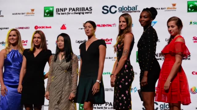The Gala evening ahead of the WTA Finals took place in Singapore on Friday evening with the eight best women tennis players