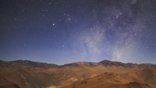 the galaxy in desert sky - chile stock videos & royalty-free footage