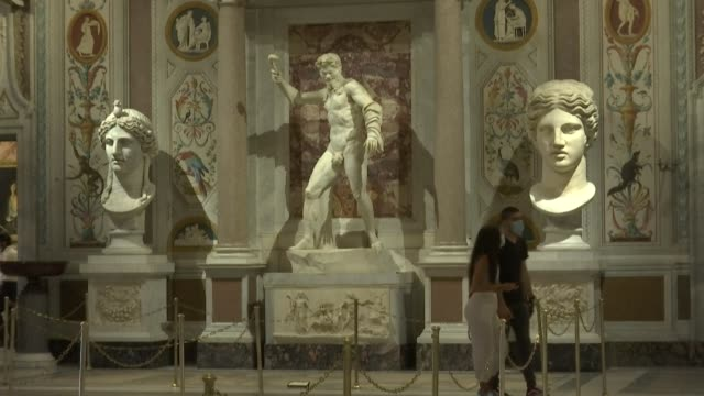 ITA: Galleria Borghese in Rome reopens as Italy eases lockdown measures