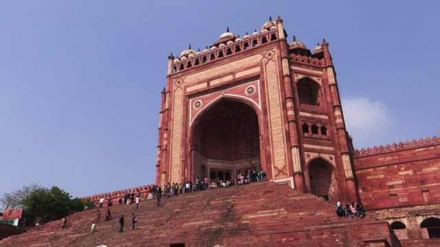 the gate of the magnificent, india - history stock videos & royalty-free footage
