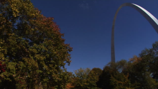 the gateway arch, pan - jefferson national expansion memorial park stock videos & royalty-free footage