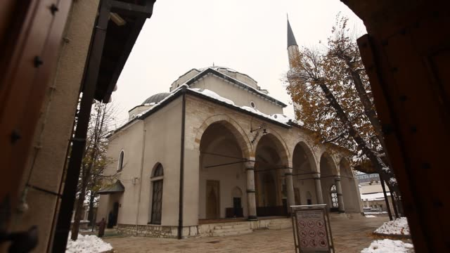 the gazi husrev-bey mosque - 16th century stock videos & royalty-free footage