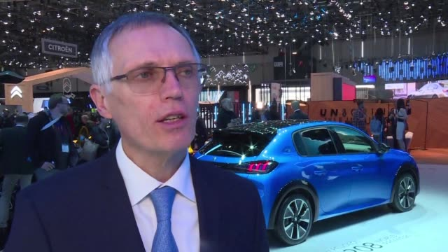 the geneva international motor show presents a number of new electric models but manufacturers are taking advantage of meetings with the media to... - psa stock videos & royalty-free footage