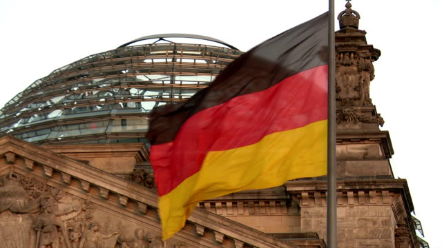 The German Flag, Reichstag Building, Berlin