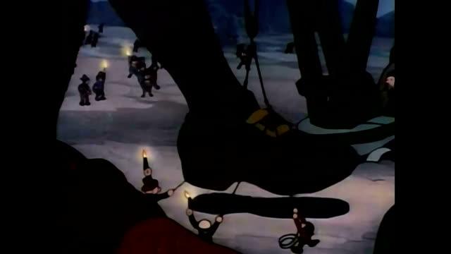vidéos et rushes de the giant is bound and a track is laid - donner un coup de pied