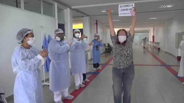 the gilberto novaes municipal field hospital in the brazilian city of manaus continues to care for patients infected with covid19 as brazil... - afp stock videos & royalty-free footage
