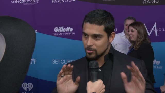 clean the gillette leading man cam at unite4humanity presented by unite4good and variety and sponsored by gillette on february 27 2014 in los angeles... - wilmer valderrama stock videos & royalty-free footage